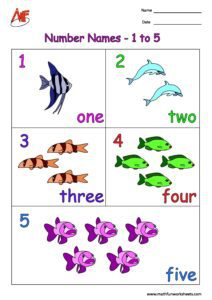 Number names upto 5