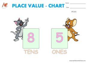 2-DIGIT PLACE VALUE PRINTABLE WORKSHEETS