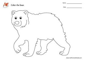 Bear Coloring Activity