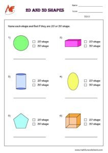Find 2D and 3D shapes