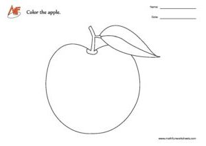 Apple Coloring Worksheet