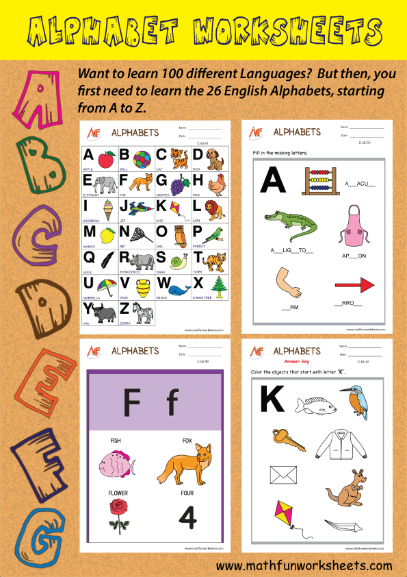 Alphabet Worksheets Infograph