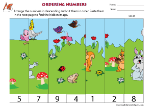 Ordering Numbers - Puzzle