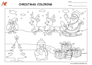 Christmas Theme Coloring