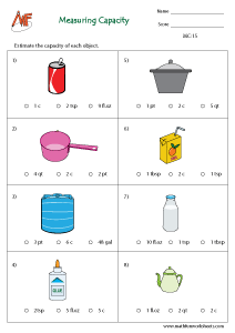 Capacity Measurement worksheet