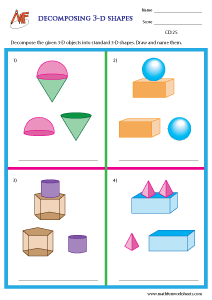 Compose and Decompose shapes worksheets