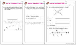 Lines, Rays, Line segments Word Problems