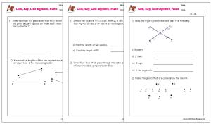 Lines, Rays, Line segments Word Problems