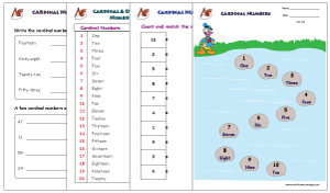 Ordinal-Cardinal numbers