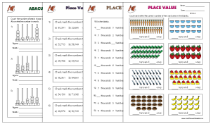 Place-value worksheets