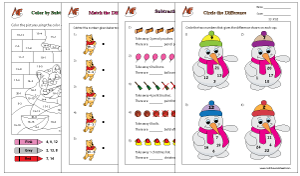Activities - Subtraction Math Worksheets