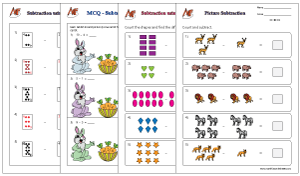 Picture Subtraction Math Worksheets