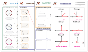 Types of Angles Worksheets